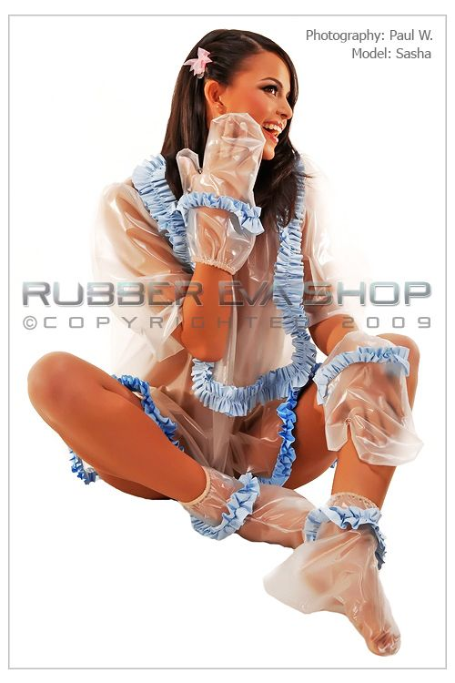 Frilly Plastic Adult Baby Outfit