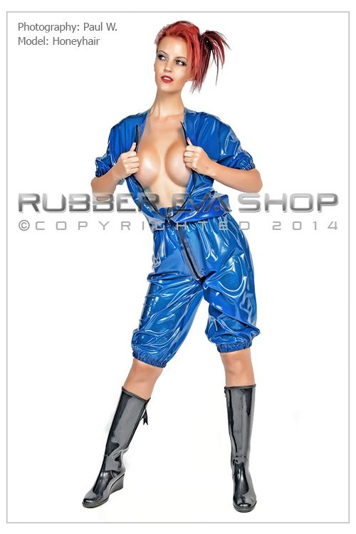 Short Elasticated Rubber Playsuit