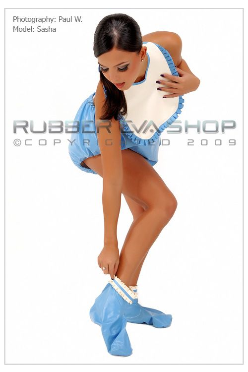 Frilly Rubber Booties