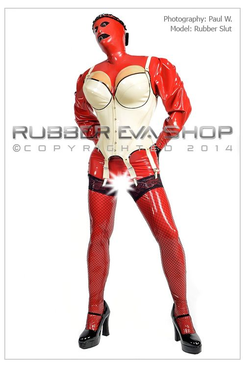 Male Fit Steel Boned Heavy Rubber Corselet