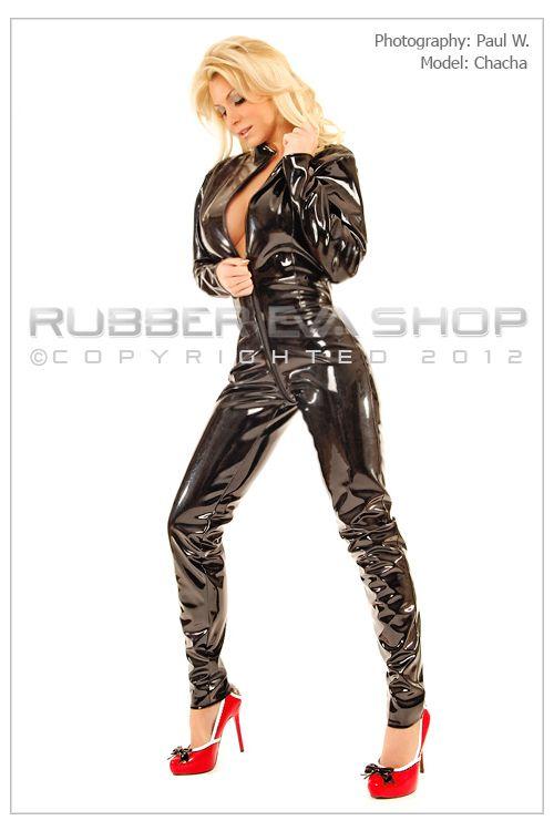 Shiny Black PVC Catsuit