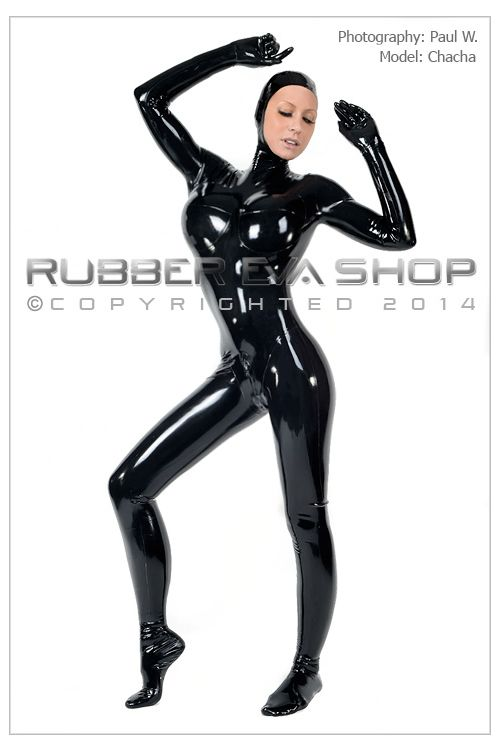 Mens Open Faced Rubber Total Enclosure Suit