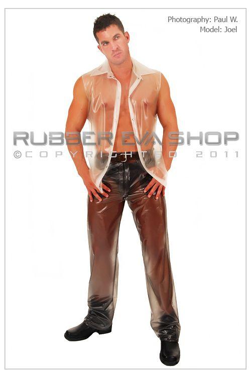 Mens Plastic Straight Cut Jeans