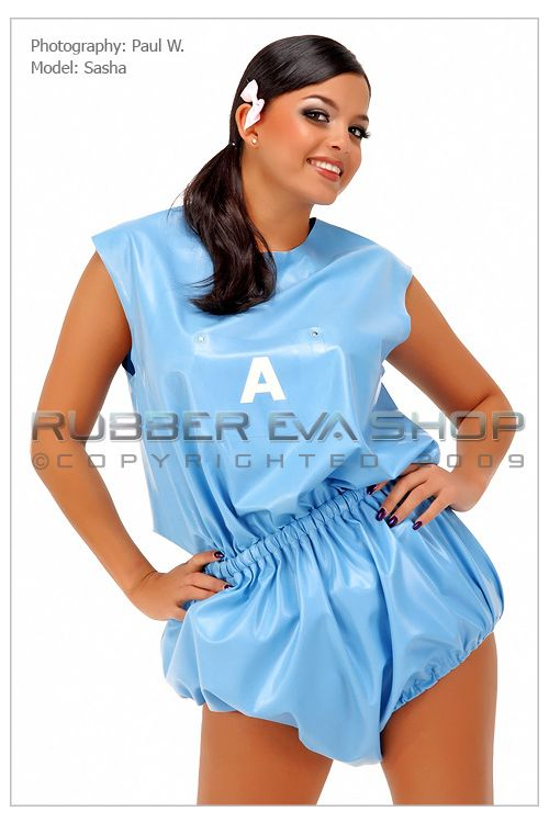 Rubber Romper Pants