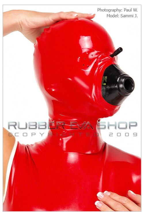 Rubber Anaesthesia Hood With Pepper Pot Eyes