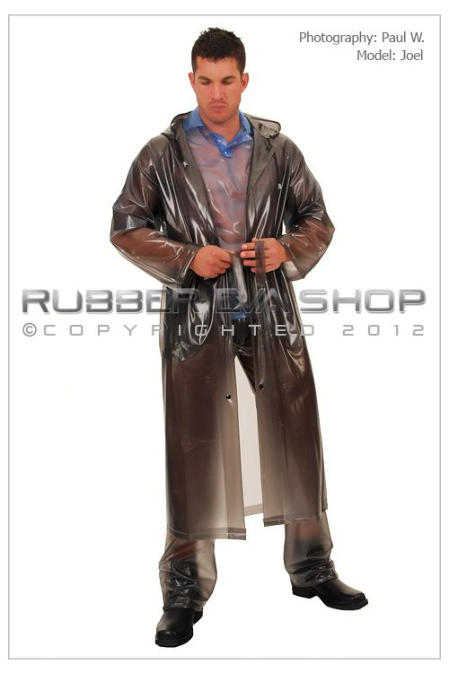 Mens Long Plastic Raincoat