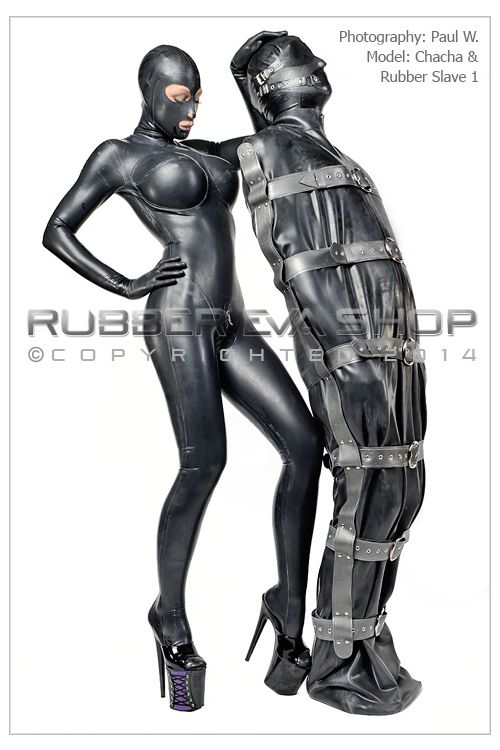 Deluxe Strapped Rubber Bondage Body Bag