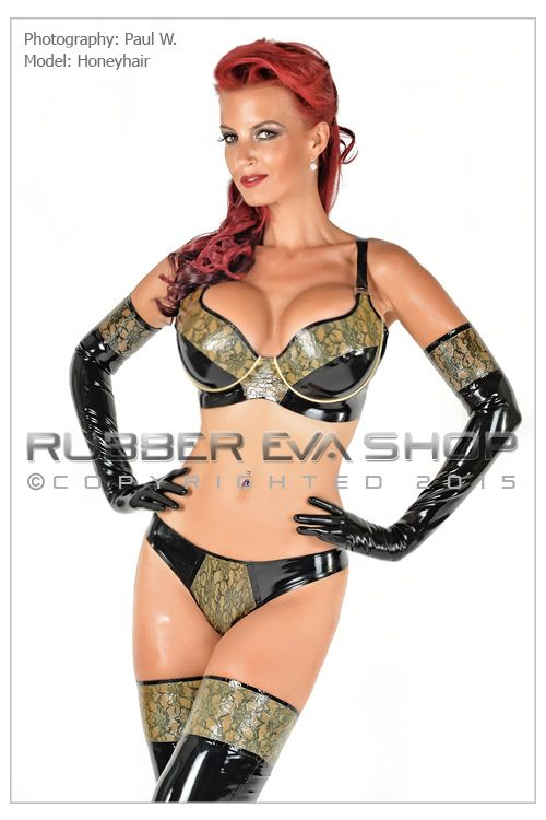 Laced Latex Underwired Bra