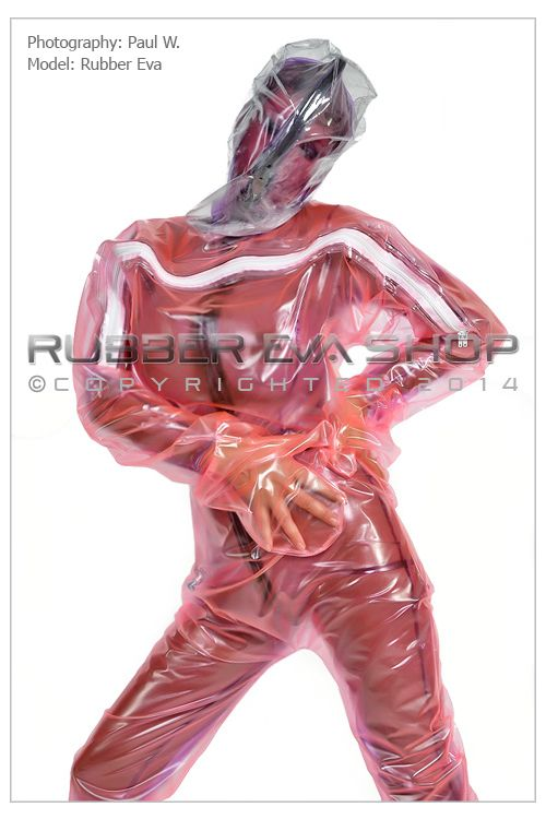 A Single Layer Inflatable Plastic Hazmat Suit