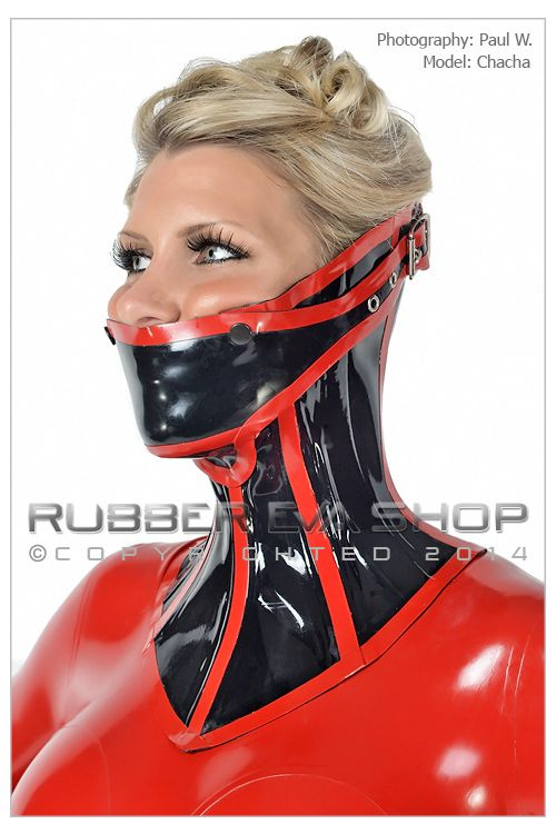 Steel Boned Rubber Neck Corset With Detachable Mouth