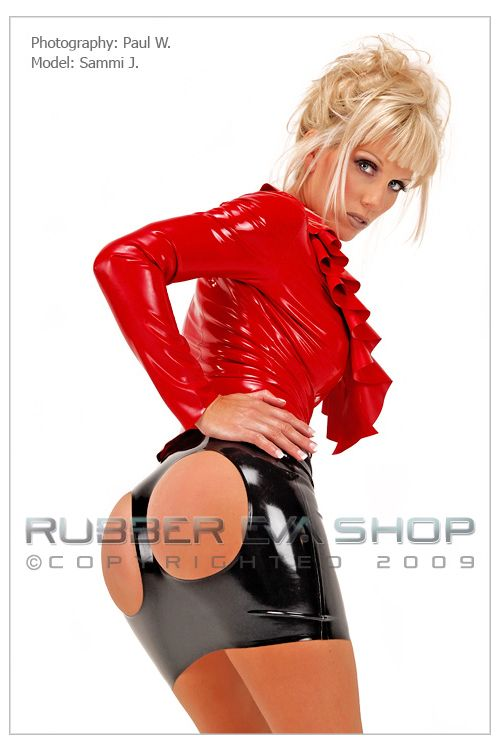 Cheeky Rubber Spanking Skirt