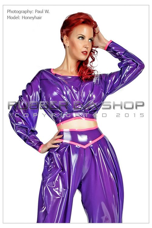 Long Sleeved Rubber Harem Top