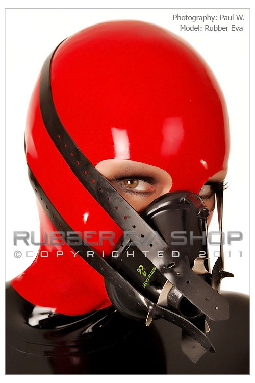Rubber Anesthesia Mask and Head Harness