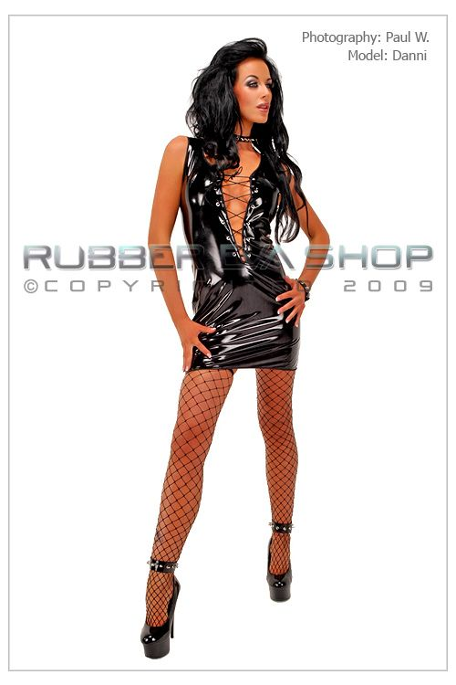PVC Lace Up Front Dress