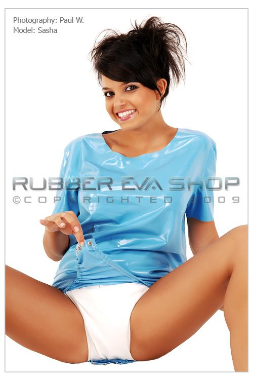 Short Adult Baby Rubber Onesie
