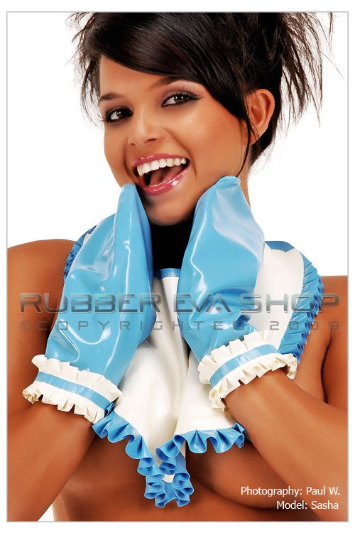 Frilly Rubber Mittens