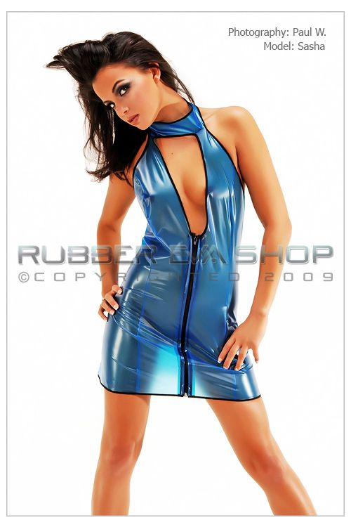 Plastic Halterneck Dress