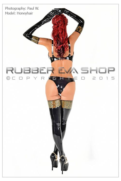 Laced Latex Shoulder Gloves