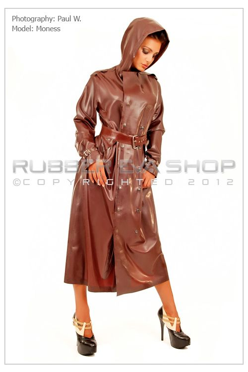 Long Rubber Trench Coat
