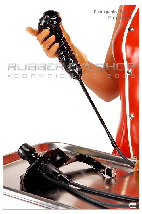 Rubber Cock Sheath & Piss Gag