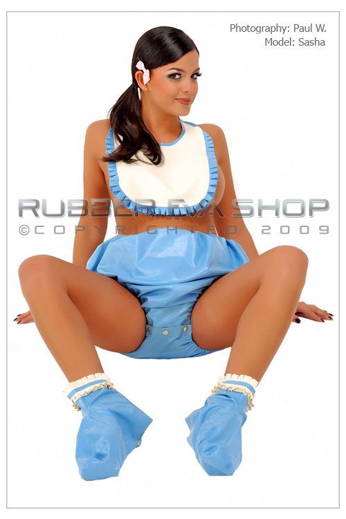 Rubber Popper Crotch Pants