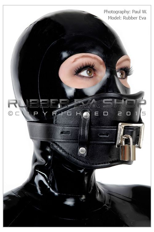 Lockable Leather Gag Harness