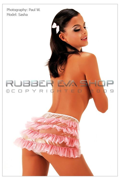 Frilly Plastic Hot Pants