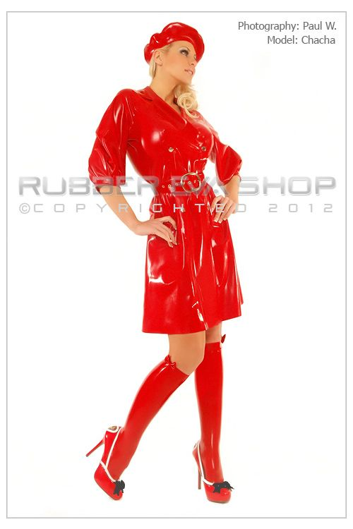 Parisienne Rubber Trench Coat