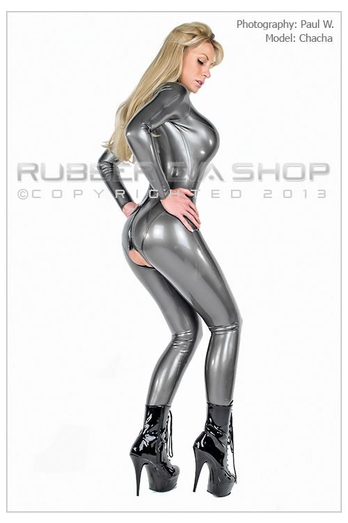 Crotchless Rubber Catsuit