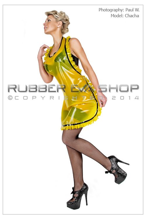 Judy Frilly Rubber Apron