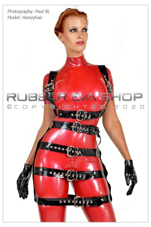 Latex Bondage Body Strap Harness